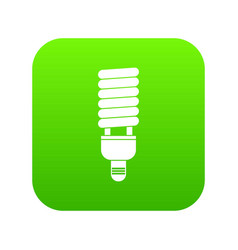 fluorescent bulb icon digital green vector image