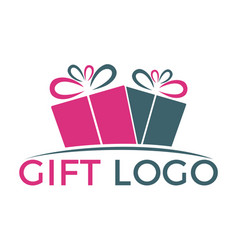 Gift box logo design vector