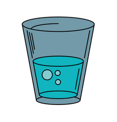 Glass water fresh icon vector