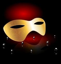 golden carnival half-mask vector image