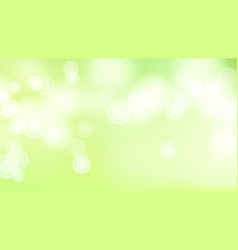 Green bokeh background abstract warm blur vector