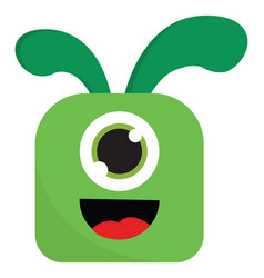 Green monster with one eye or color vector