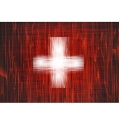Grunge swiss flag vector image
