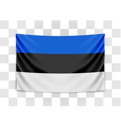 hanging flag estonia republic estonia vector image