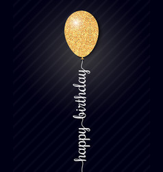 happy birthday card on black background vector image