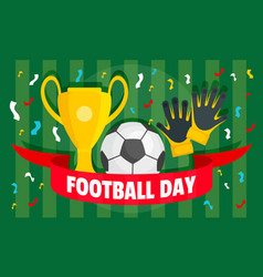 Holiday football day concept banner flat style vector