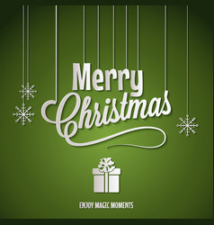 holiday frame happy merry christmas new year vector image