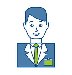 Hotel receptionist icon vector