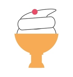 ice cream cup icon vector image