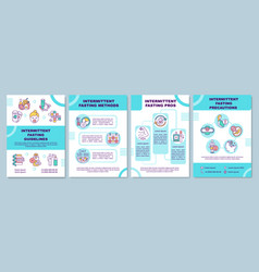 Intermittent fasting guidelines brochure template vector