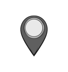 JPS icon black monochrome style vector image