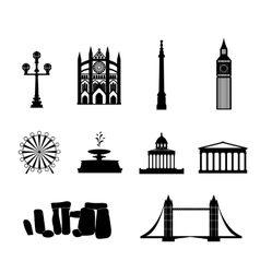 Landmarks of United Kingdom vector image