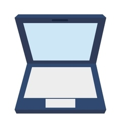 laptop topview icon vector image