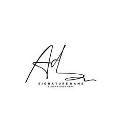 Letter ae signature logo template vector