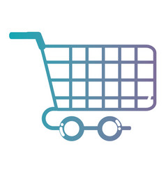 line shopping car symbol to buy online vector image