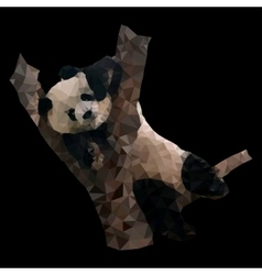 low poly panda vector image