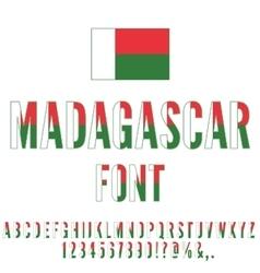Madagascar Flag Font vector image