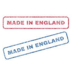 Made in england textile stamps vector