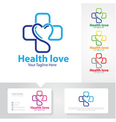 medicine logo designs vector image