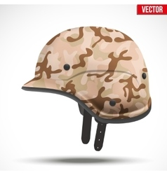 Military modern camouflage helmet Side view vector image
