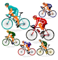 National cyclist 1 vector