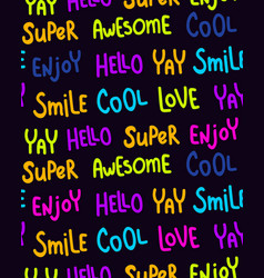 neon lettering pattern vector image