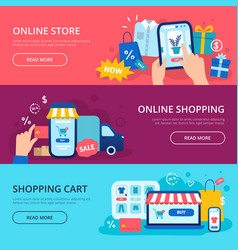 online shopping banner web store credit card vector image