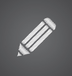 Pencil sketch logo doodle icon vector