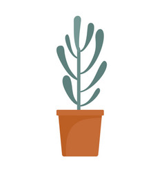 plant tree cactus icon flat style vector image