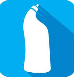Plastic Bottle for Laundry Detergent Icon vector image