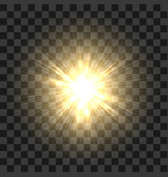 realistic sun rays glow abstract sunshine light vector image