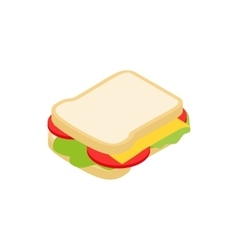 Sandwich icon isometric 3d style vector