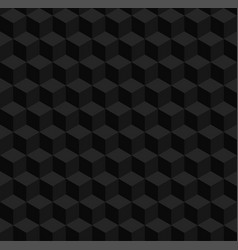 seamless geometric 3d pattern black cubes vector image