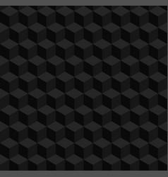 Seamless geometric 3d pattern black cubes vector