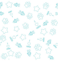 seamless pattern with pet elements vector image