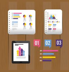 set infographi business diagram information vector image