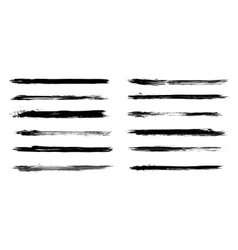 Set of grunge brush strokes in vector image