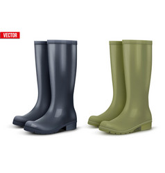 Set of work rain boots vector