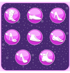 Shoes buttons vector