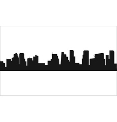Silhouette of the city flat vector