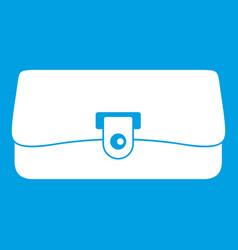 small wallet icon white vector image