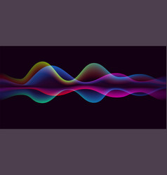 sound wave voice line or pulse abstract background vector image