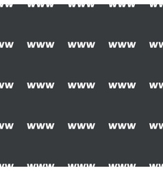 Straight black WWW pattern vector