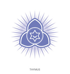 Thymus chakra yoga ayurveda reiki vector