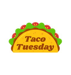 Traditional taco tuesday meal vector