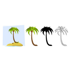 tropical palm trees of a palm tree vector image