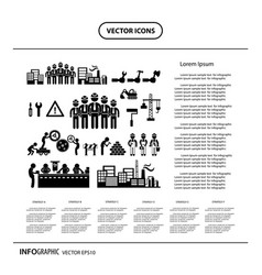 under construction in industry info graphic icon vector image