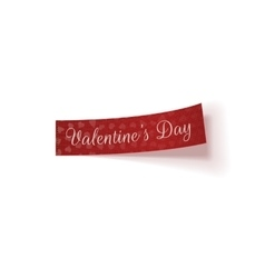 Valentines Day red Tag with Hearts Pattern vector