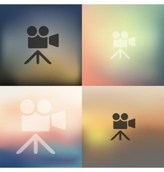 video icon on blurred background vector image
