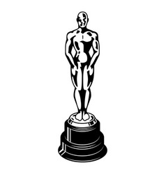 Vintage oscar cinema academy award template vector